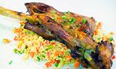 Paletilla de cordero con cuscús de verduras