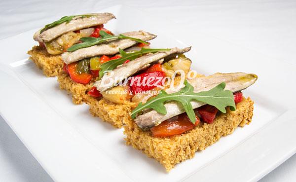 Receta de sardinas en escabeche c trico sobre pan de - Como cocinar sardinas ...