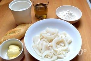 ingredientes calamares rebozados solo con harina