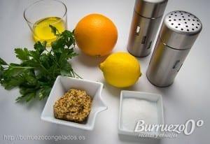 Ingredientes para hacer una salsa cítrica