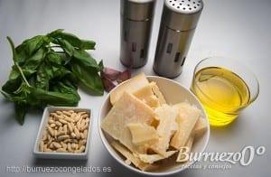 Ingredientes para hacer una salsa pesto