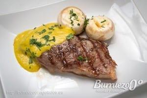 Filete de ternera con salsa curry de Burruezo