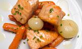 Salmón en escabeche con verduras