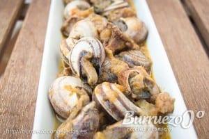 Como hacer caracoles con salsa picante