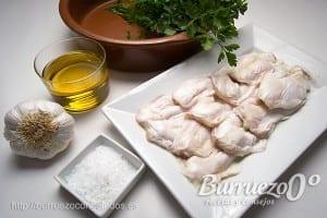 Ingredientes: bacalao, ajo y aceite de oliva.