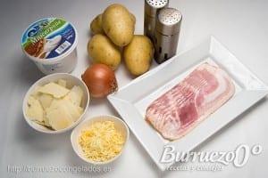 Ingredientes para hacer patatas rellenas en el horno