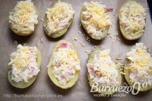 Patatas rellenas para asar en el horno