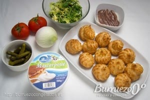 Ingredientes profiteroles salados