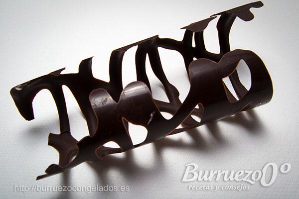 Formas redondeadas de chocolate