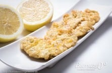 Boquerones macerados en vinagre y fritos, de Burruezo congelados.