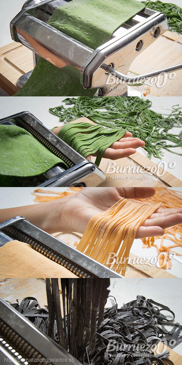 Máquina aplanadora y cortadora de pasta