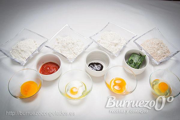 Ingredientes para hacer pasta: Harina de fuerza y huevos.