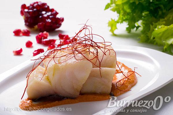Como Cocinar Lomos De Bacalao   Receta De Lomo De Bacalao Confitado Con Salsa Romesco