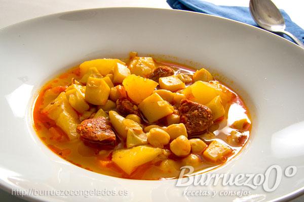 Guiso de garbanzos con sepia y chorizo burruezo 0 for Cocinar garbanzos con chorizo