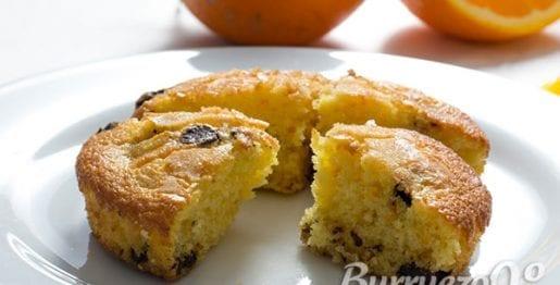 Tortas de naranja y chocolate de Burruezo congelados
