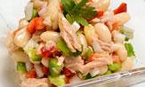 Ensalada de alubias, atún y pimientos