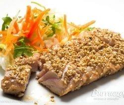 Tataki de ventresca de atún con sésamo de Burruezo congelados