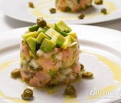 Tartar de salmones, de Burruezo congelados