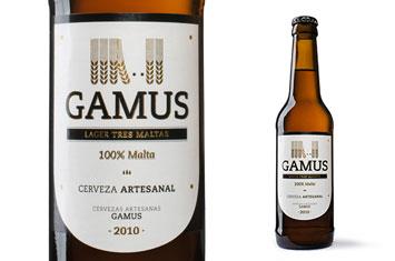 Cerveza GAMUS Lager tres maltas