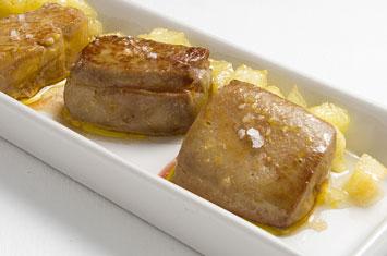 Puntas de escalope de foie