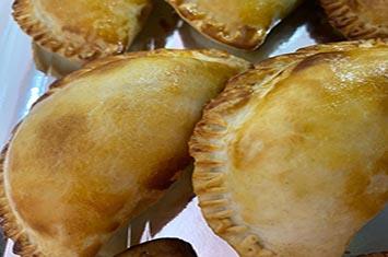Empanada morcilla y manzana