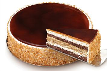 Tarta de galletas con caramelo